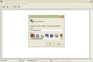 Configurazione RS232 Hyperterminal