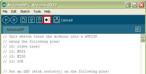 Procedura per caricare il bootloader Arduino