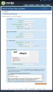 Registrazione al servizio no ip