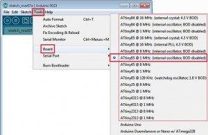 Lista processori attiny