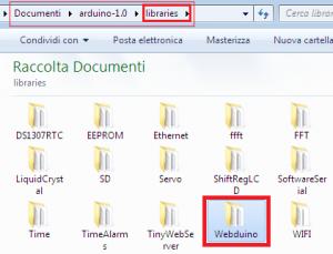 Libreria webduino