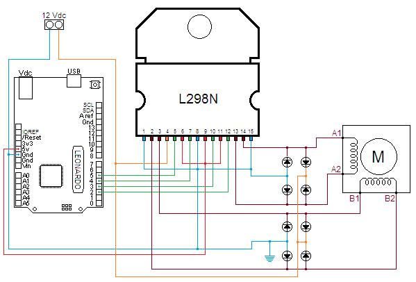 Schemi Elettrici Per Arduino : Motore passo come usare un stepper l n