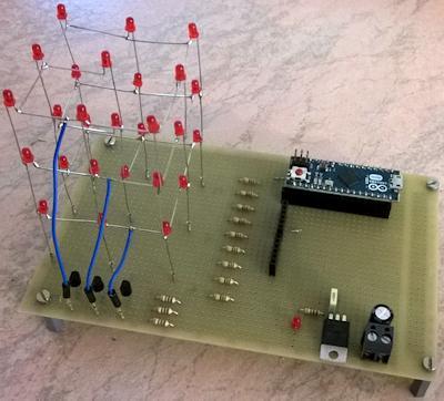 Schema Elettrico Per Accensione Led : Arduino micro tutorial come costruire un cubo led x