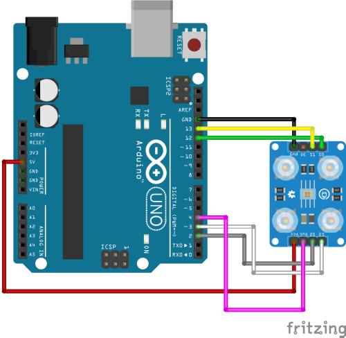 Arduino circuito TCS230